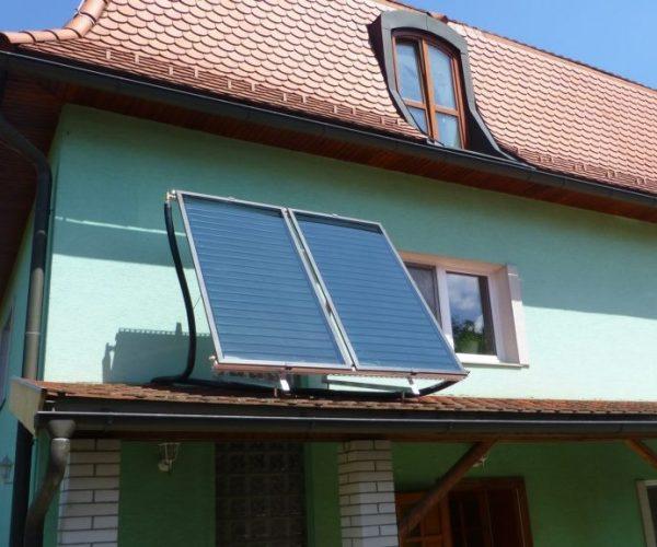 Naše prevedenie inštalácie solárnych kolektorov na dome v obci Rožňava, pohled na strechu
